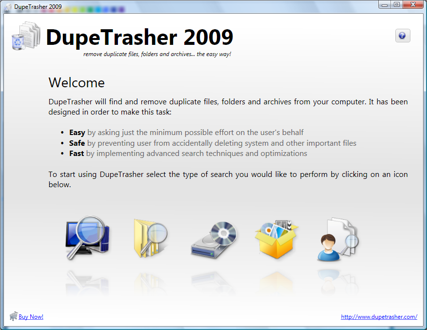 Click to view DupeTrasher 2009 screenshot